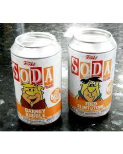 THE FLINTSTONES : SODA FIGURES SET : BARNEY RUBBLE EN FRED FLINTSTONE LIMITED EDITION